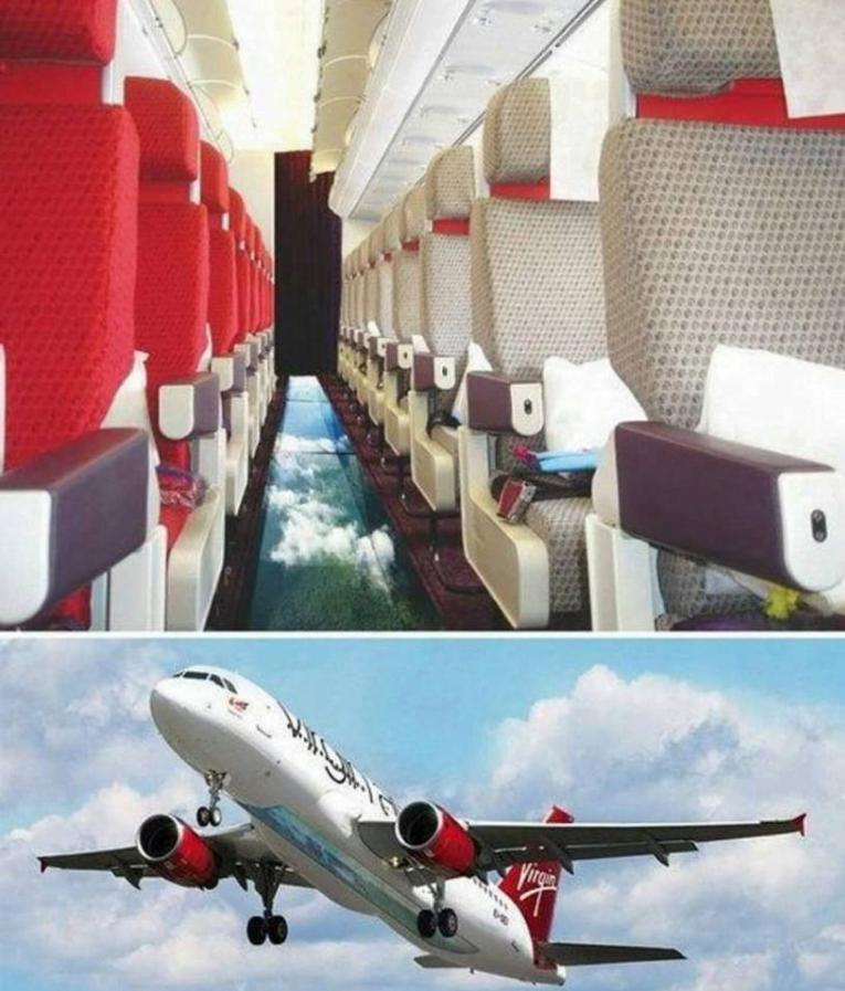 virgin atlantic, avio kompanija, avio karte, stakleno dno